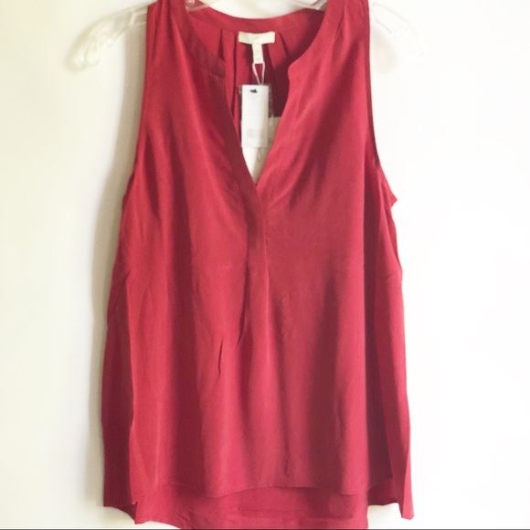 205b2ee749d49 Joie Aruna Sleeveless Silk Blouse Red NWT Sz S